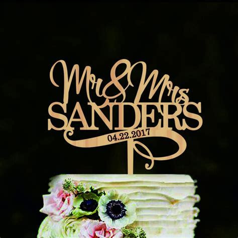 Mr and Mrs wedding cake topper Personalized name wedding