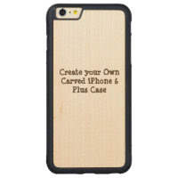 Create Your Own Carved iPhone 6 Plus Case Carved Maple iPhone 6 Plus Bumper Case