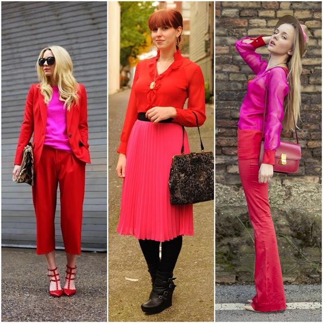 Resultado de imagem para tendencia vermelho com rosa