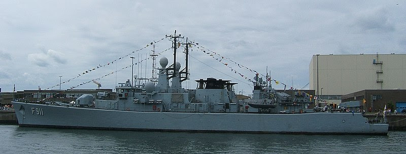 The F-911 Westdiep, a Wielingen class frigate - now in Bulgarian service