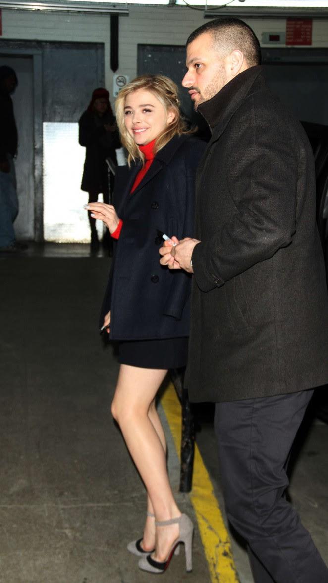 Chloe Moretz Leggy in Short Dress -27