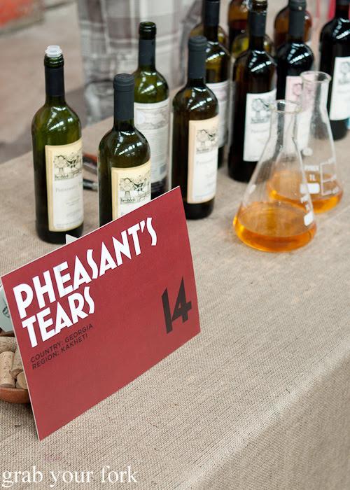 Pheasant's Tears from Kakheti, Georgia at the Rootstock Sydney 2014 Wine Festival