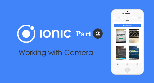 Ionic and Angular: Native Camera with Restful Upload