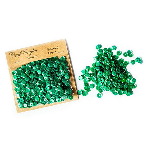 CrafTangles Sequins - Emerald Green