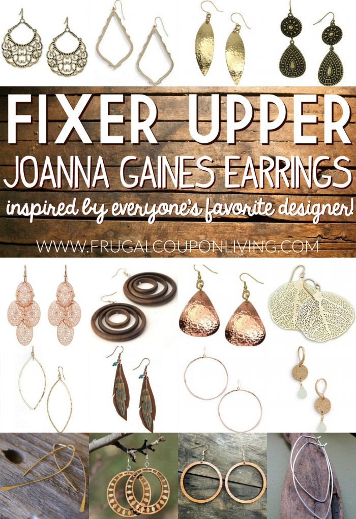 Fixer upper joanna gaines earrings frugal coupon living e1467051530653