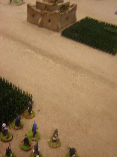 Firing on British in tomb