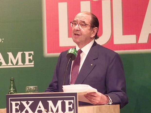 O empresário Roberto Civita promoveu em 2003 o fórum 'Os 100 Dias do Governo Lula' (Foto: Luiz Carlos Murauskas/Folhapress)