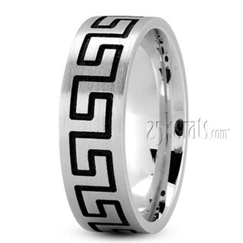 Flat Greek Key Wedding Band   FC100942   14K Gold