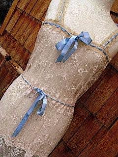 Edwardian Style Vintage Lace Slip Dress by La Belle Fairy