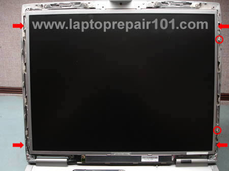 Remove LCD screen