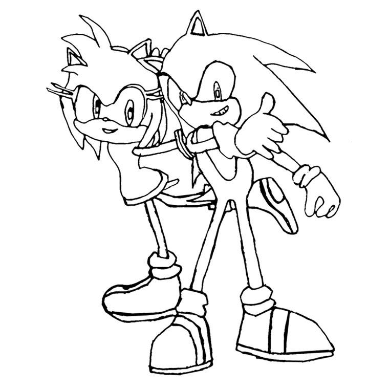 Coloriage De Sonic A Imprimer Az Coloriage