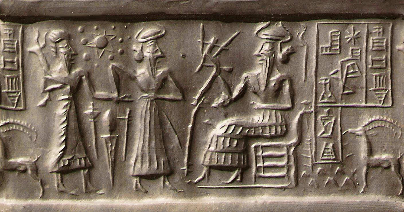 Resultado de imagem para Sumerian Seal VA / 243 - Nibiru e Anunnaki