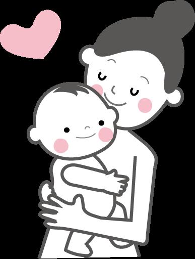 赤ちゃんとママお母さん無料イラストフリー素材