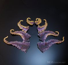 very cool beaded fern-like shapes