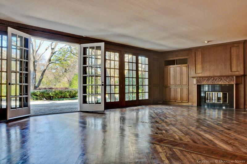 Informal Living Room With Series Of French Doors Overlooking Preston