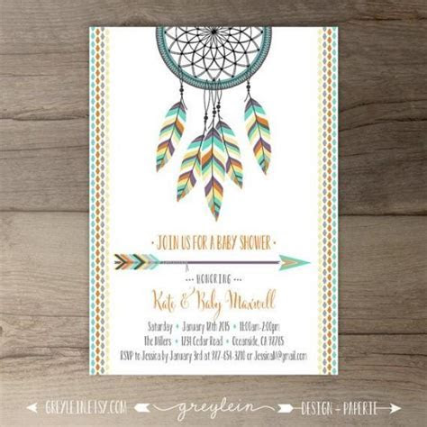 Dreamcatcher Baby Shower Invitations ? Birthday ? Bridal