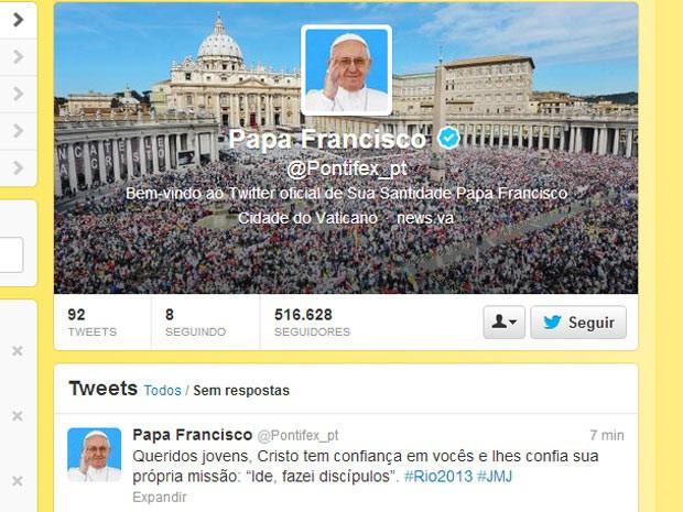 G1 No Twitter Papa Diz Que Cristo Confia Sua Própria Missão Aos