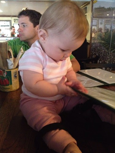 Baby in a bar.