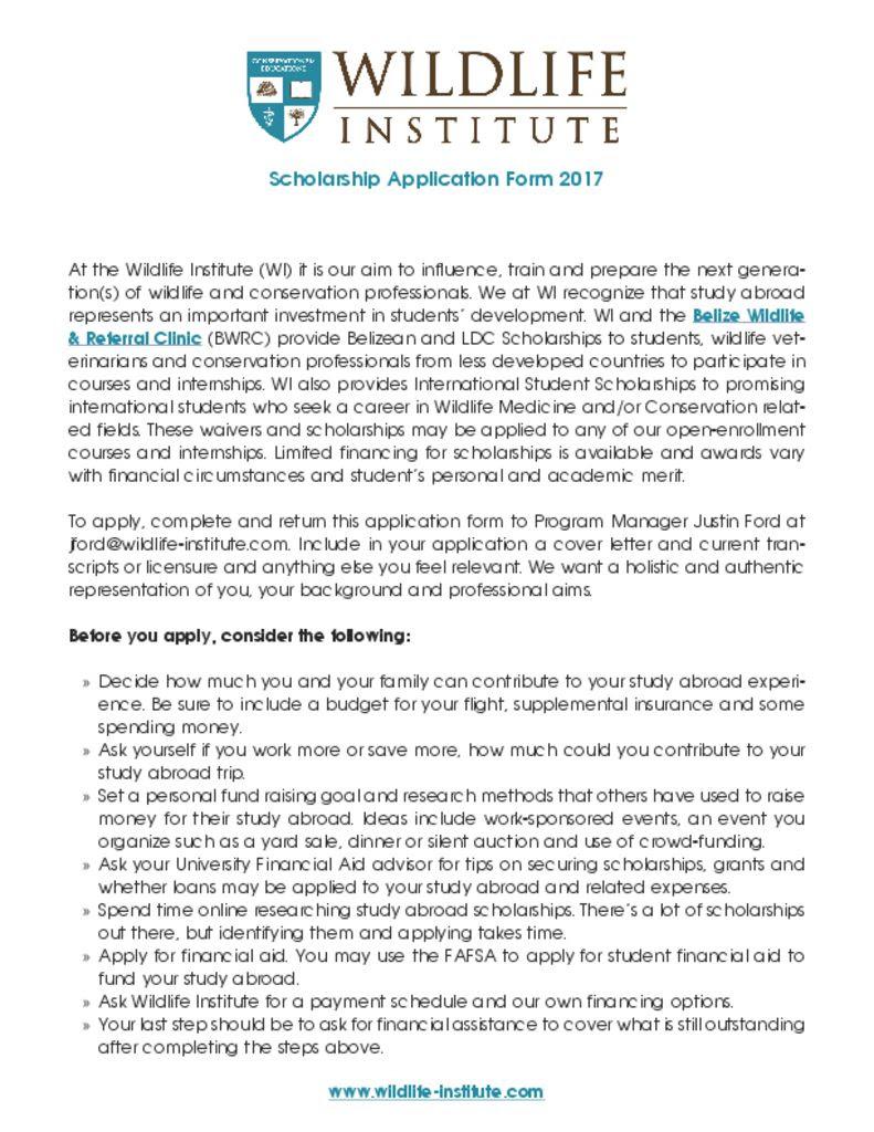 Sample Cover Letter For Wildlife Internship - 200+ Cover ...