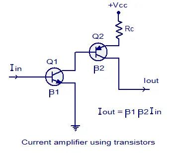 transistor current amplifier