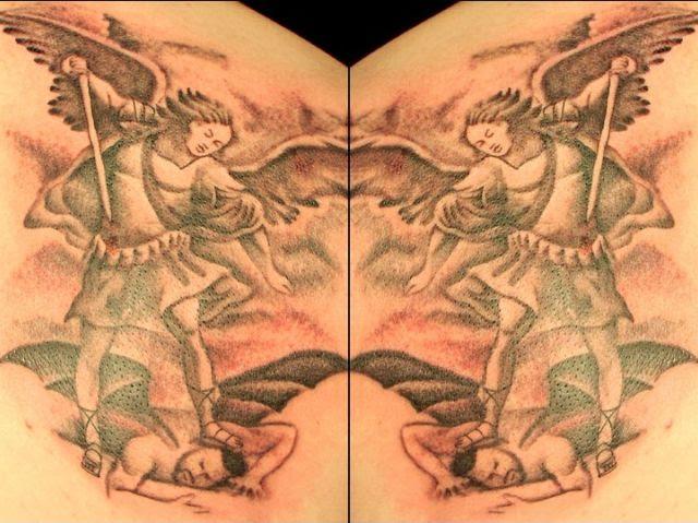Tattoos Angel vs. Devil - Tattoos Angel vs. Devil - , Tattoos, Angel