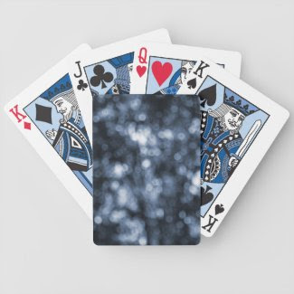 Blue Bokeh Bicycle Card Deck