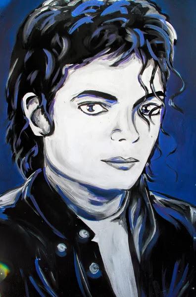 Michael Jackson graffiti  portrait — Foto de Stock #55160845
