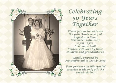 Parents' 50th Wedding Anniversary Party Ideas   eHow UK