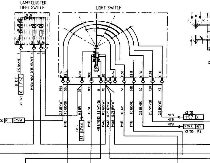 986 Headlight Wiring Diagram