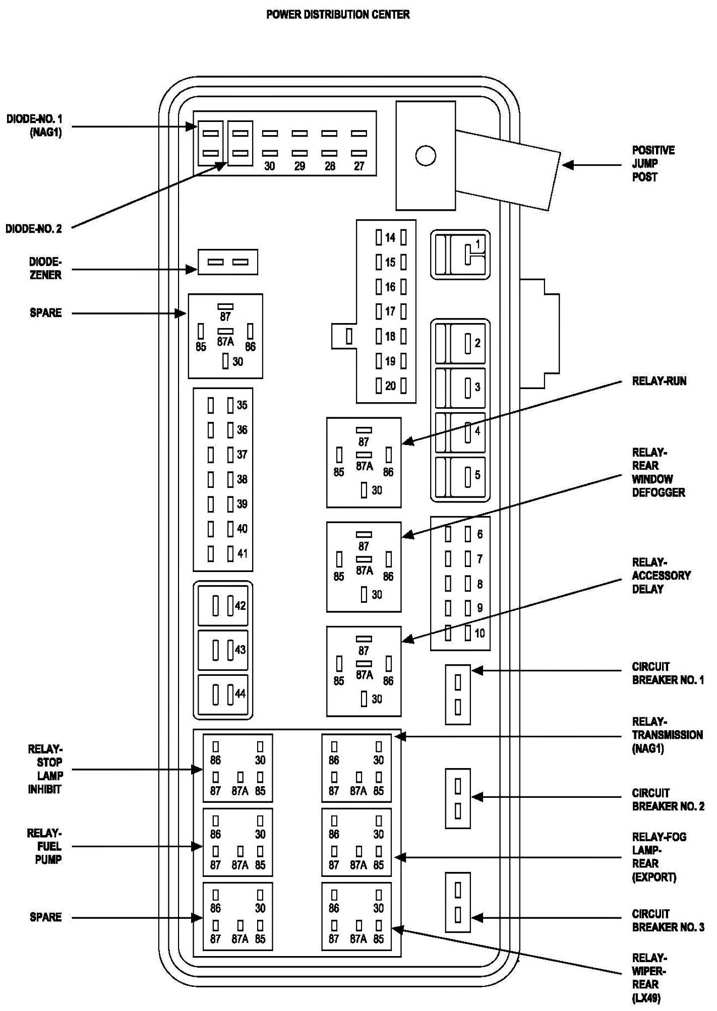 2006 Kenworth Fuse Panel Diagram