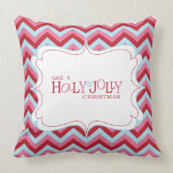 Holly Jolly Christmas Pillow