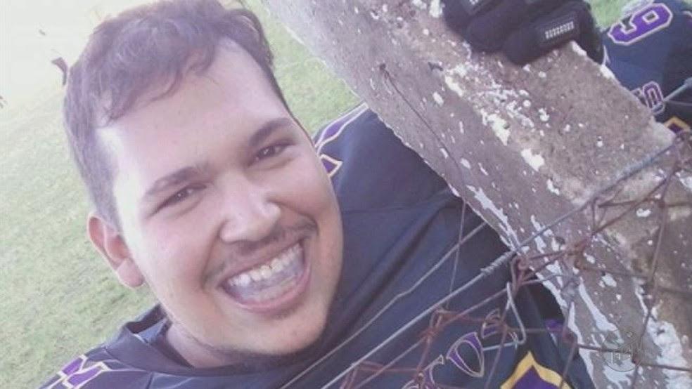 Paulo Okumoto, de 23 anos, morreu após disputar partida de futebol americano e sofrer infarto em Franca (Foto: Reprodução/EPTV)