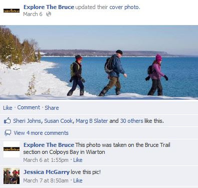 explore the bruce on snowshoe