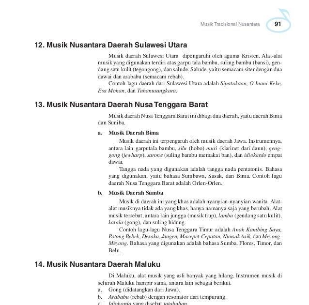 Sebutkan Contoh Jenis Musik Nontradisional Nusantara ...