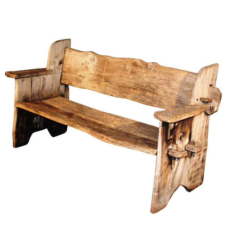Rustic Scottish Garden Bench at 1stdibs