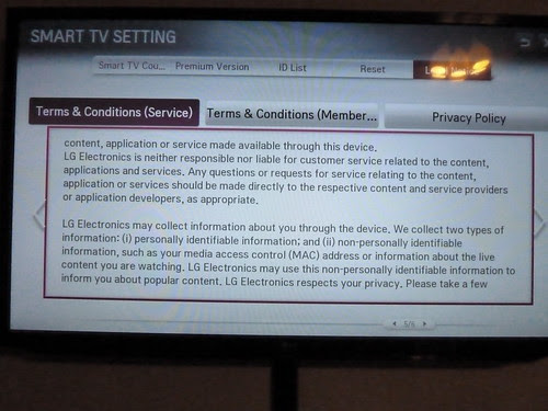 LG Smart TV Privacy Policy
