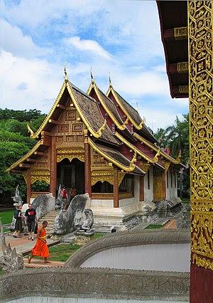 Viharn Lai Kham, Wat Phra Singh, Chiang Mai, n...