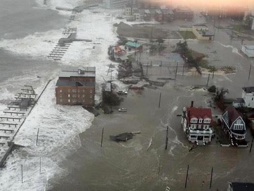 Sandy's damage to Atlantic City, New Jersey on October 30, 2012. Dozens have been killed and billions in property damage has come in wake of the storm. by Pan-African News Wire File Photos