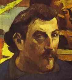Paul Gauguin.  Auto-Retrato com Christ amarelo.