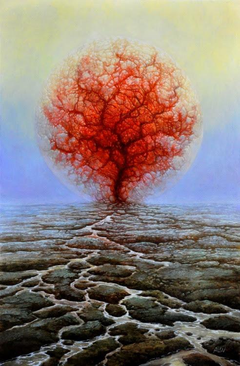 Image result for desert tree paintings