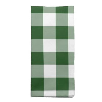 Green and White Gingham Pattern napkin