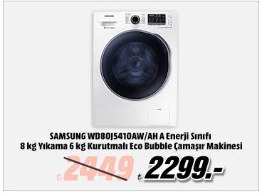 SAMSUNG WD80J5410AW/AH A Enerji Sınıfı 8 kg Yıkama 6 kg Kurutmalı Eco Bubble Çamaşır Makinesi 2299TL