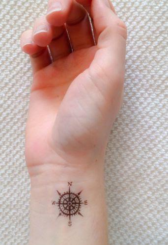Cute Small Wrist Compass Tattoo On Arm Tattoomagz