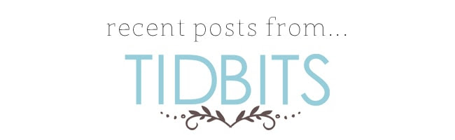 Recent Posts From_Tidbits