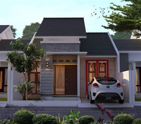 rumah minimalis tampak depan samping belakang - desain rumah