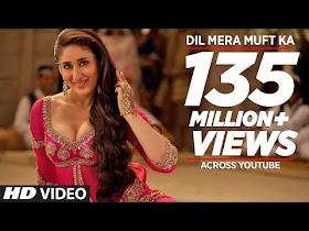 """Dil Mera Muft Ka"" Full Song   Agent Vinod   Kareena Kapoor"