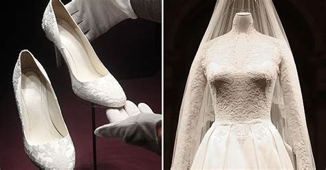 Kate Middleton's wedding dress and cake unveiled at
