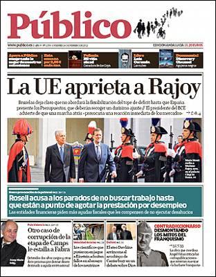Portada de hoy de 'Público'.