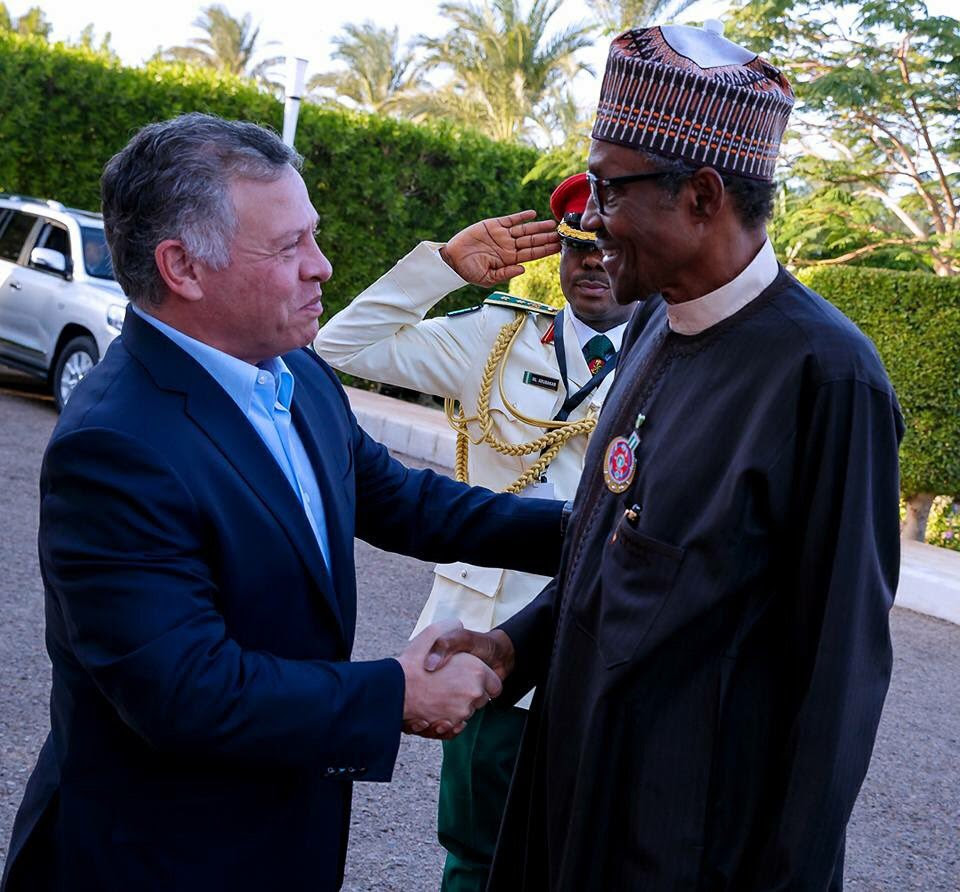 President Buhari Meets With King Of Jordon, King Abdullah II (Photos)