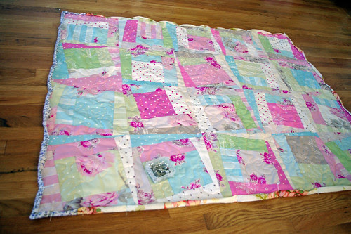 Quilt With Pinned Binding